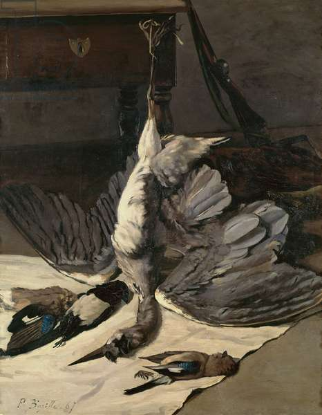 Still Life with Heron, 1867 (oil on canvas)
