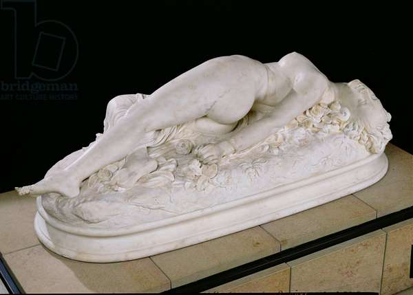 Woman Bitten by a Snake, 1847 (marble)