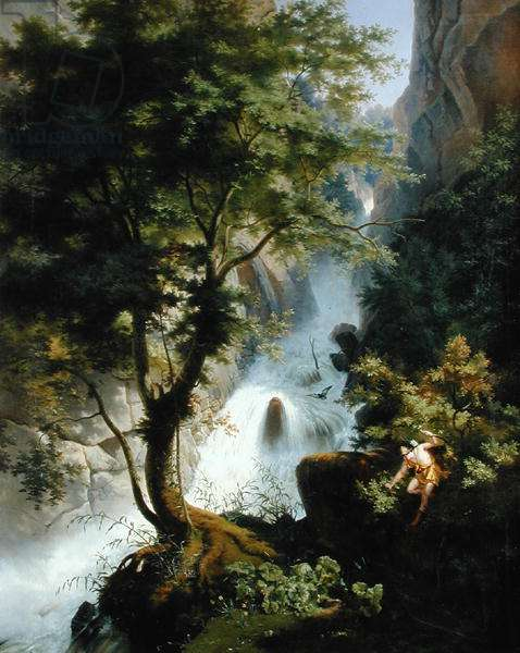 Hunter in the Apennines, 1822 (oil on canvas)