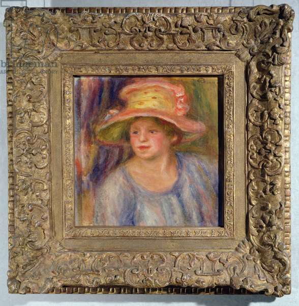 Woman with a hat, c.1915-19 ? (oil on canvas)