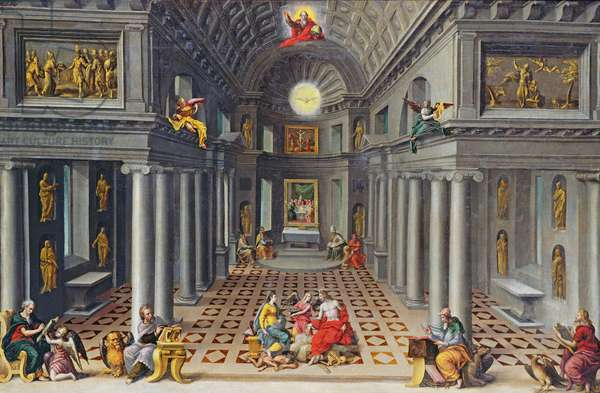 The Triumph of the Church or An Allegory of Christianity (oil on canvas)