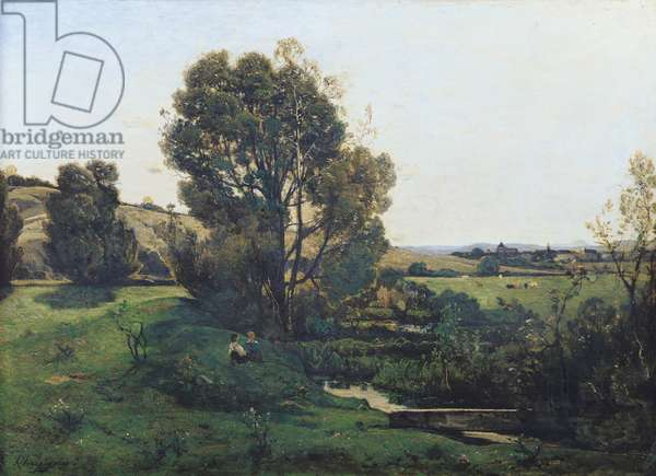 View from Moncel-sur-Seine, c.1868 (oil on canvas)