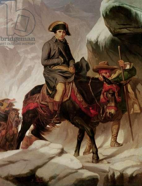 Napoleon Bonaparte (1769-1821) Crossing the Alps (oil on canvas)