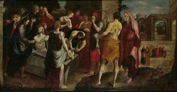Resurrection of Lazarus (oil on canvas)