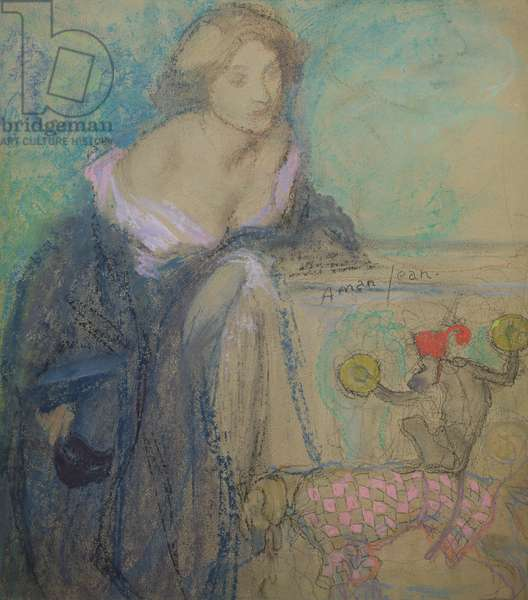 Woman with the Mask, 1911 (pastel on paper)