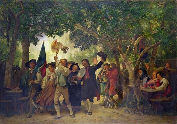 The Winner of the Cock Dance, 1871 (oil on canvas)