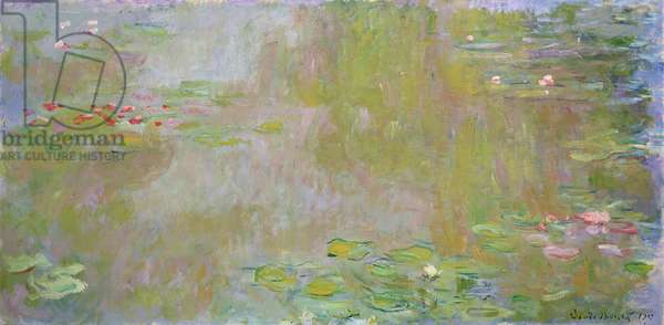 Waterlilies at Giverny, 1917 (oil on canvas)