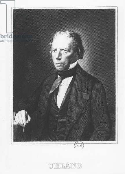 Johann Ludwig Uhland (engraving)