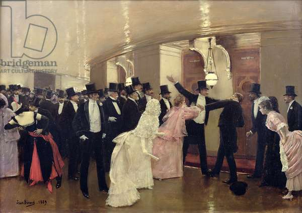 An Argument in the Corridors of the Opera, 1889 (oil on canvas)