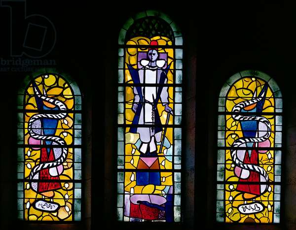 Windows depicting St. Dominic (1170-1221) 1954 (stained glass)