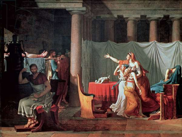 Lictors Bearing to Brutus the Bodies of his Sons, 1789 (oil on canvas) (see 188954 & 188955 for details)