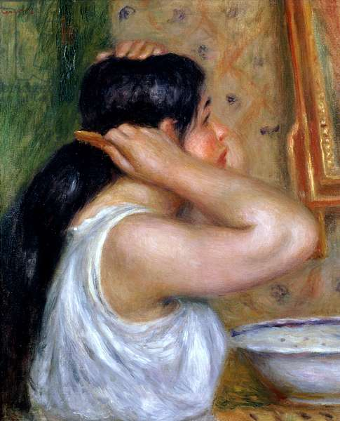Girl Combing her Hair, 1907-8 (oil on canvas)