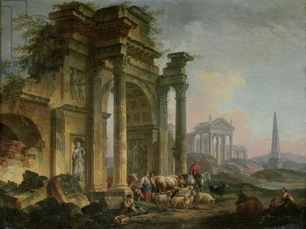 Triumphal Arch (oil on canvas)