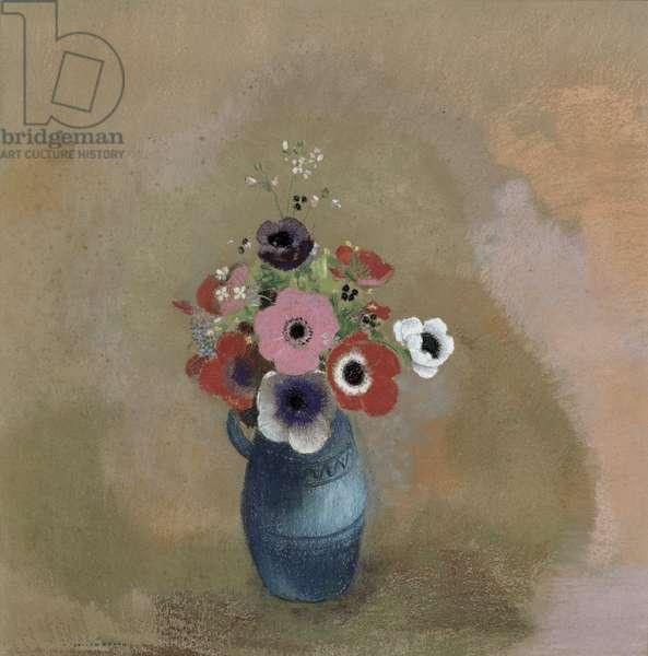Bouquet of anemones (pastel)