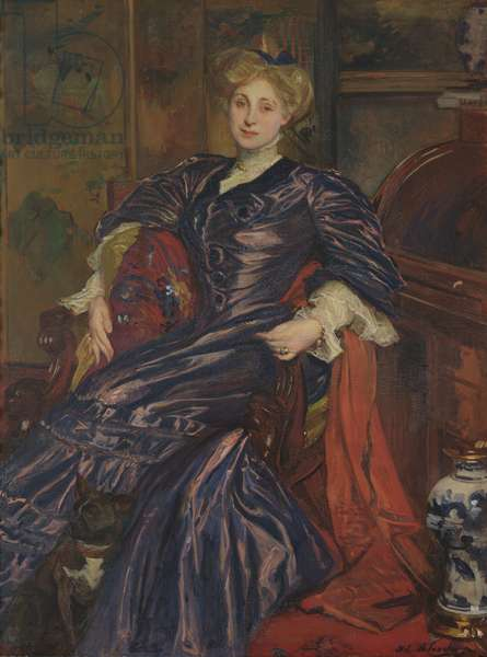 Portrait of Mrs Emily Montgomery-Lang, 1911 (oil on canvas)