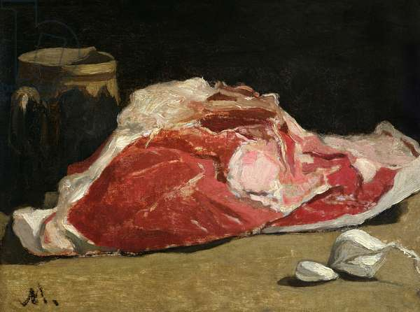 Still Life, the Joint of Meat, 1864 (oil on canvas)