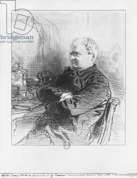 Henri Bonaventure Monnier (litho) (b/w photo)