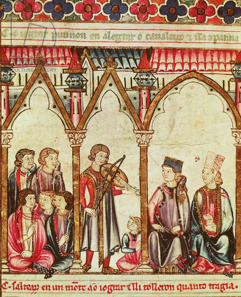 Group of Troubadours, illustration from