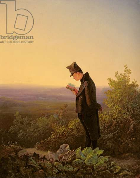 Reading the Breviary, The Evening (oil on canvas)