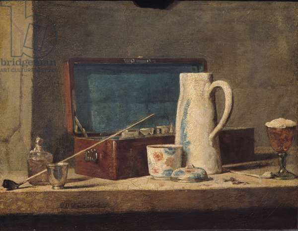 Still Life of Pipes and a Drinking Glass (oil on canvas)