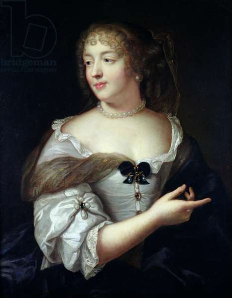 Portrait of Marie de Rabutin-Chantal, Madame de Sevigne (1626-96) (oil on canvas)