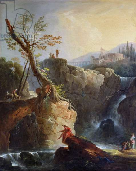 The Waterfall, 1773 (oil on canvas)