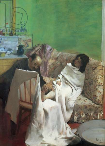 The Pedicure, 1873 (oil on paper laid on canvas)