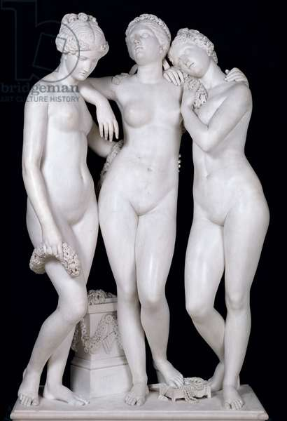 The Three Graces, 1831 (marble) (see for details 164658, 164659)