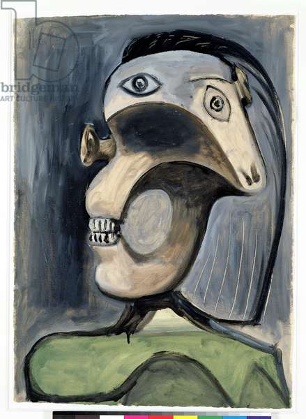 Head of a Woman, 11th June 1940 (oil on paper)