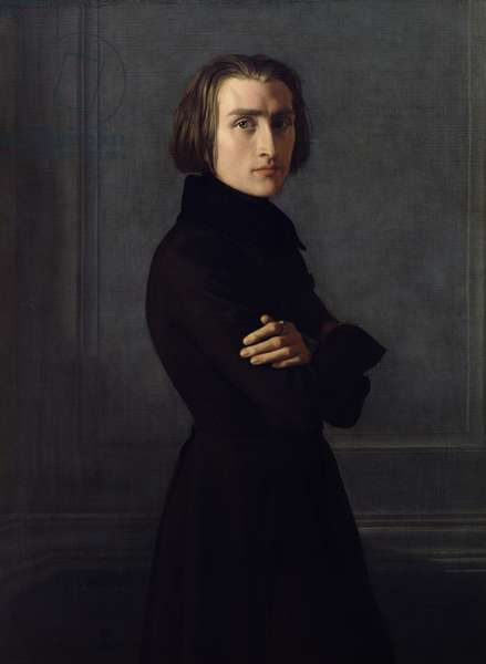 Portrait of Franz Liszt (1811-86) 1839 (oil on canvas)