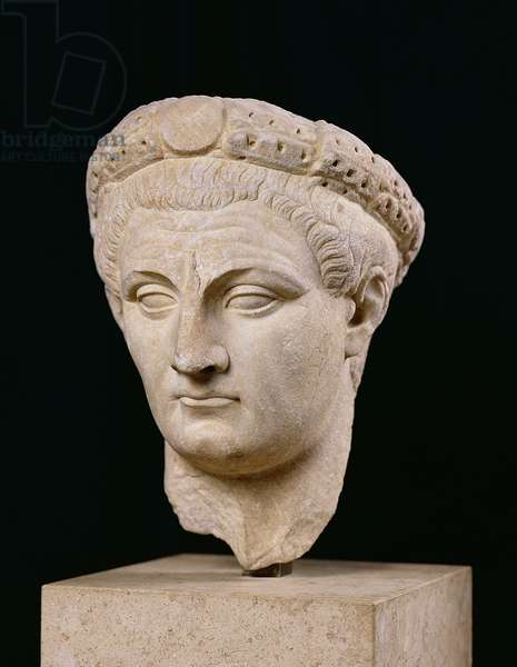 Bust of Emperor Claudius (10 BC-54 AD) from Thasos (marble)