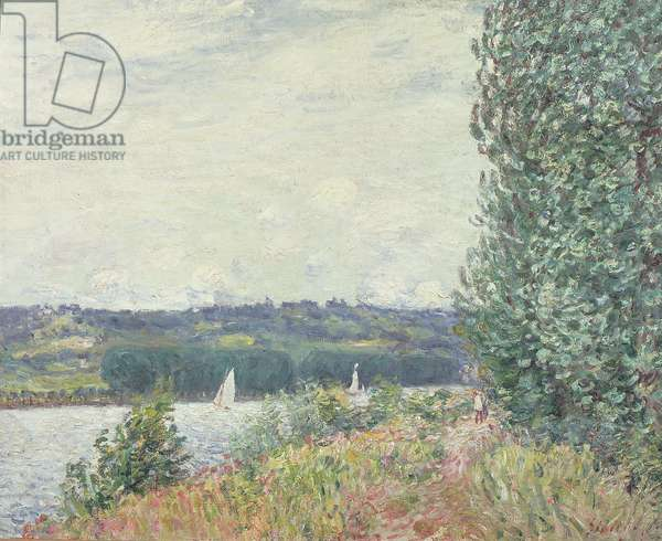 The Seine at Bouille, a Gust of Wind, 1894 (oil on canvas)