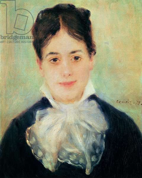 Woman Smiling, 1875 (oil on canvas)