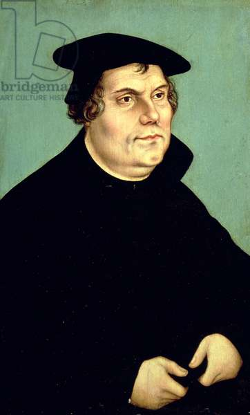 Martin Luther (1483-1546) (oil on panel)