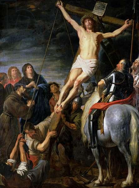 Raising the Cross, 1631-37 (oil on canvas)