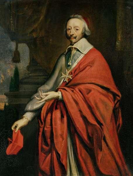 Portrait of Cardinal de Richelieu (1585-1642) (oil on canvas)