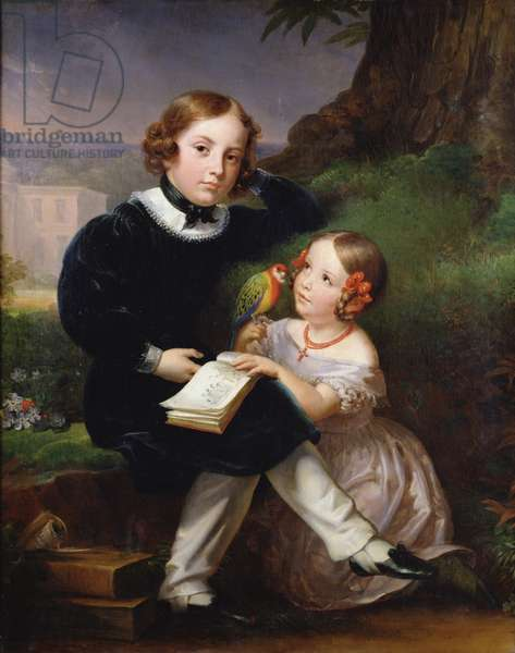 Portrait of the children of Pierre-Jean David d'Angers (oil on canvas)