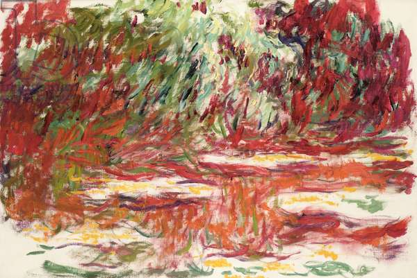 Waterlily Pond, 1918-19 (oil on canvas)