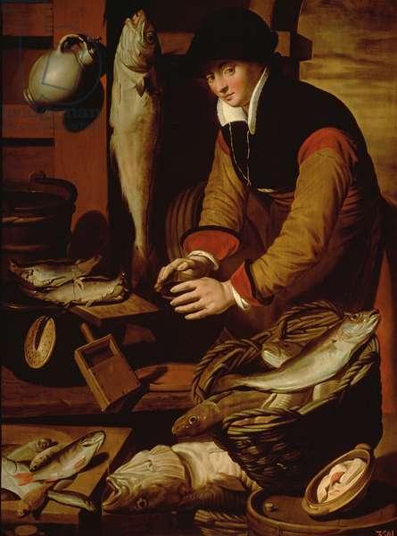 The Fish Seller, c.1580 (oil on panel)