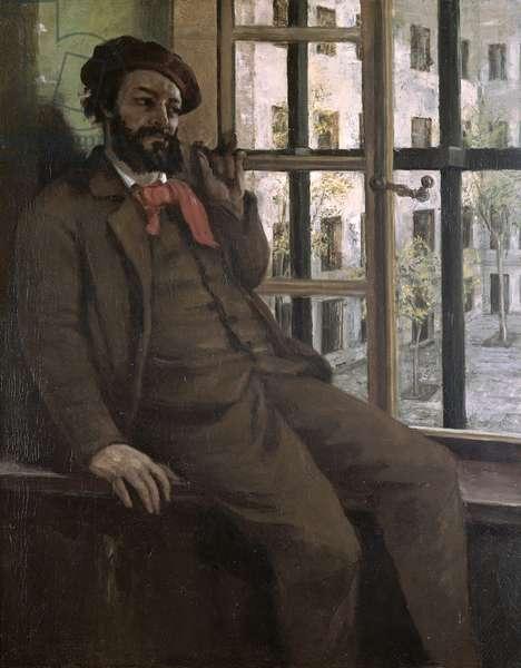 Self Portrait at Sainte-Pelagie, 1871 (oil on canvas)