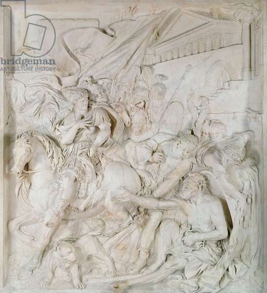 Alexander the Great (356-323 BC) and Diogenes (413-323 BC) completed in 1693 (marble) (see also 39445)