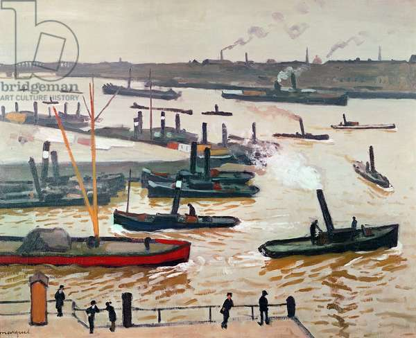 Rotterdam, 1914 (oil on canvas)