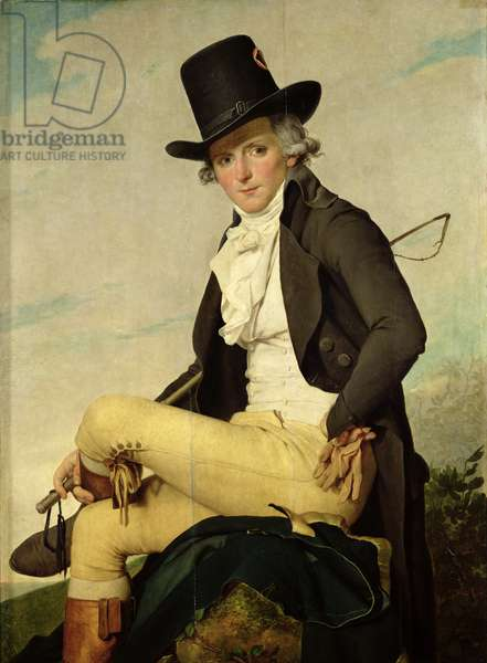 Portrait of Pierre Seriziat (1757-1847) the artist's brother-in-law, 1795 (oil on panel)