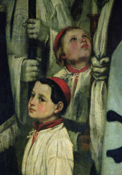 A Burial at Ornans (detail of a choirboy) , 1849-1850 (oil on canvas)