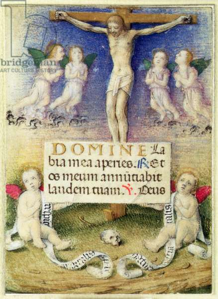 Christ on the Cross with Angels, c.1480 (vellum)