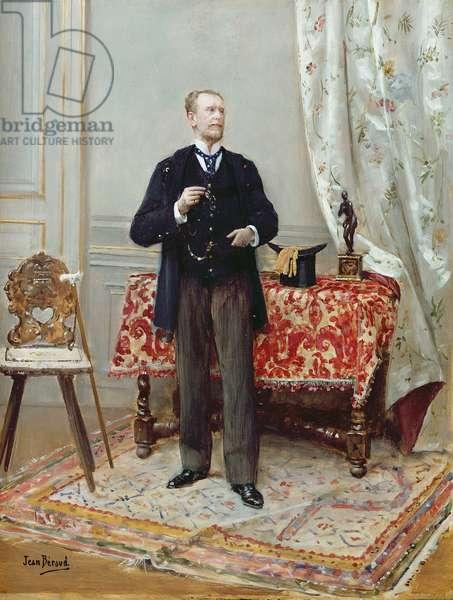 Edmond Taigny (oil on panel)