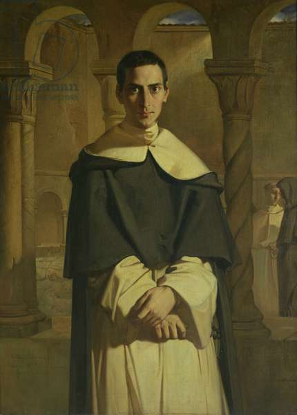 Portrait of Jean Baptiste Henri Lacordaire (1802-61), French prelate and theologian, 1841 (oil on canvas)