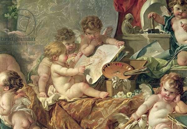 Genius Teaching the Arts, 1761 (oil on canvas) (detail)
