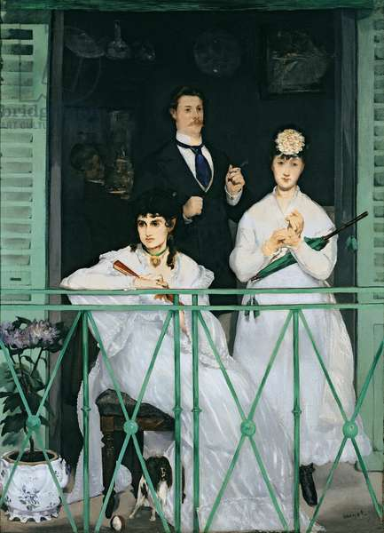 The Balcony, 1868-9 (oil on canvas)
