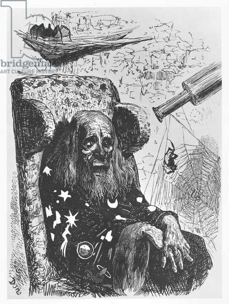 The astrologer Herr Trippa, illustration from 'Gargantua and Pantagruel', by François Rabelais (engraving)